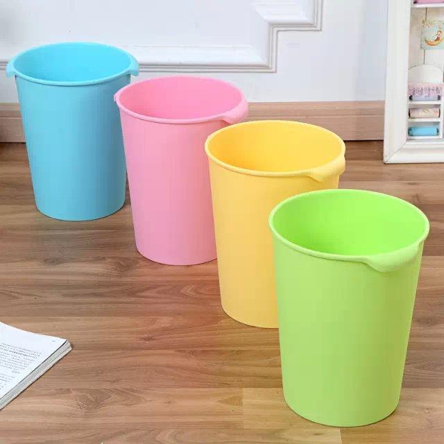 创意炫彩办公家用塑料垃圾桶