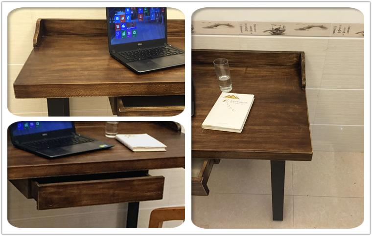 成都创客新品北欧宜家铁艺实木电脑桌简约办公桌书桌