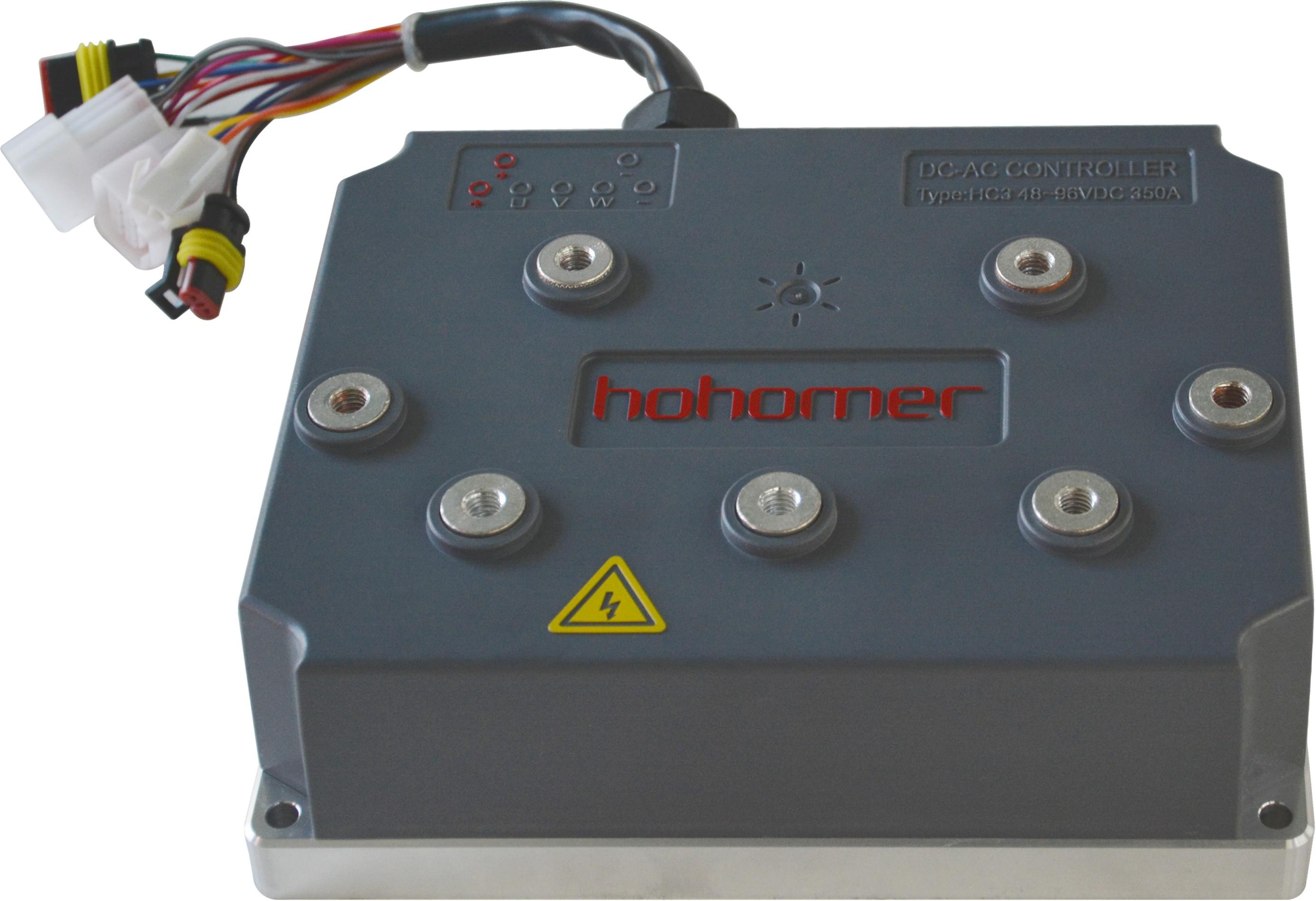 產品規格系列: 紅河馬控制器主要以控制器的電流安培系統命名,以電壓的大小細分命名。 目前企業主要有四大系列控制器產品:分別爲200A系列交流控制器、300A系列交流控制器、400A系列交流控制器和600A系列交流控制器;每一系列按電壓的大小細分爲48V系列、60V系列、72V系列、96V系列、108V系列、144V系列和288V系列。每款控制器都可以匹配多種不同功率的電機,例如300A控制器可以匹配3-5KW的交流電機,大大解決了單個電機匹配單個電控的侷限性。