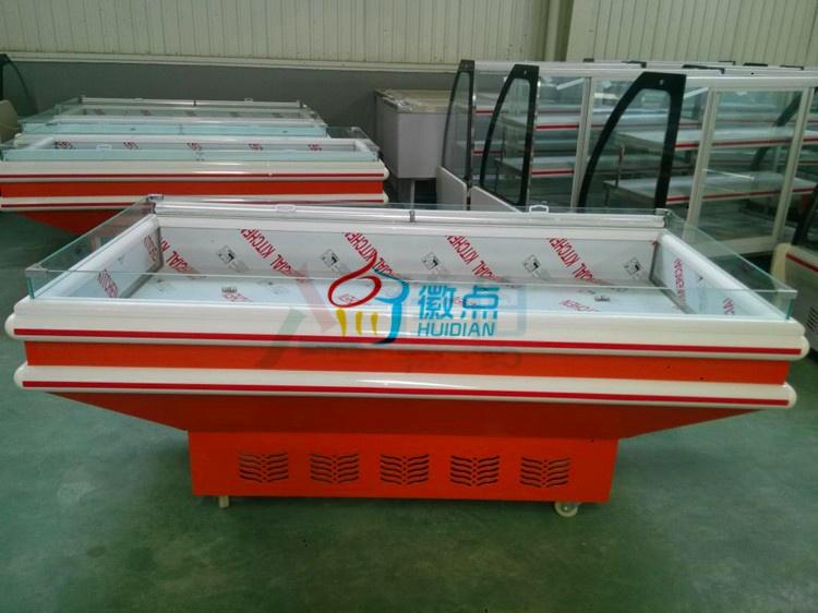 超市卧式海鲜冰台厂家直销,尺寸可定做