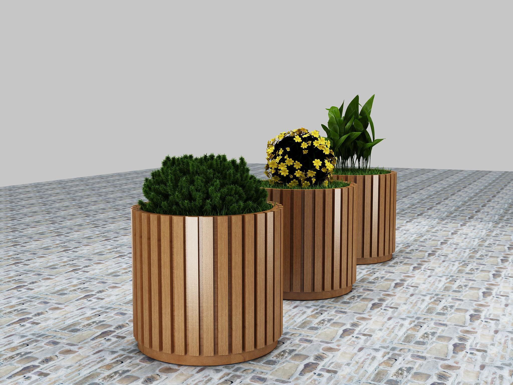 防腐木花池,碳化木花箱,花架,园林绿化花箱,花盆