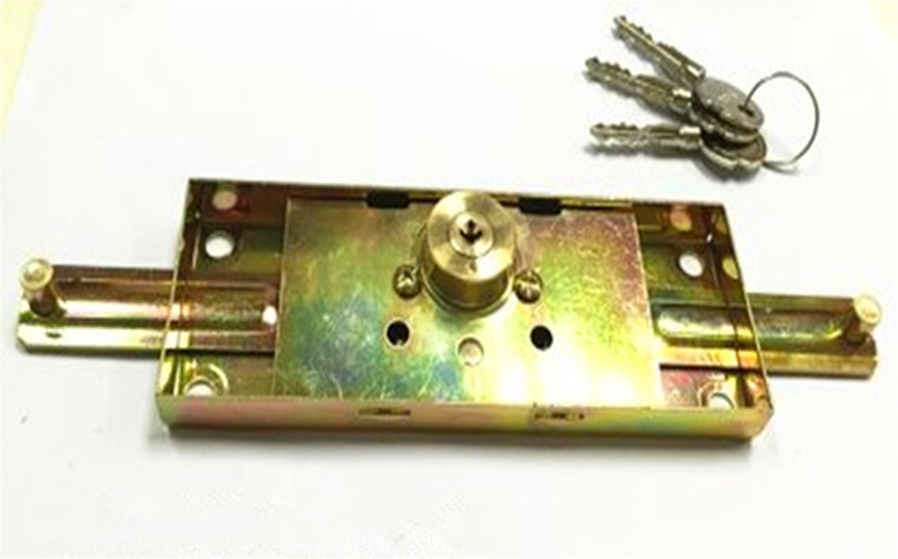 厂家直销雄盾卷闸门铜芯外装防盗门锁