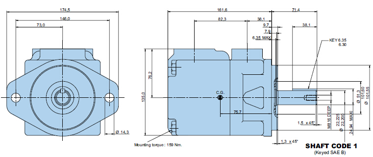 denison丹尼逊叶片泵尺寸结构图图片