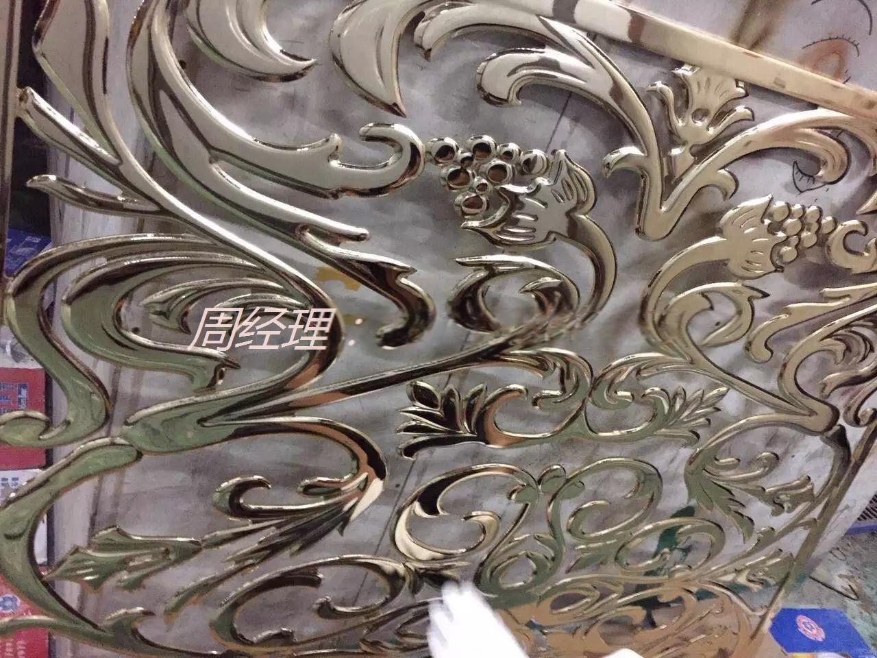 4d立体铝板雕刻屏风 欧式铝雕花屏风订做加工