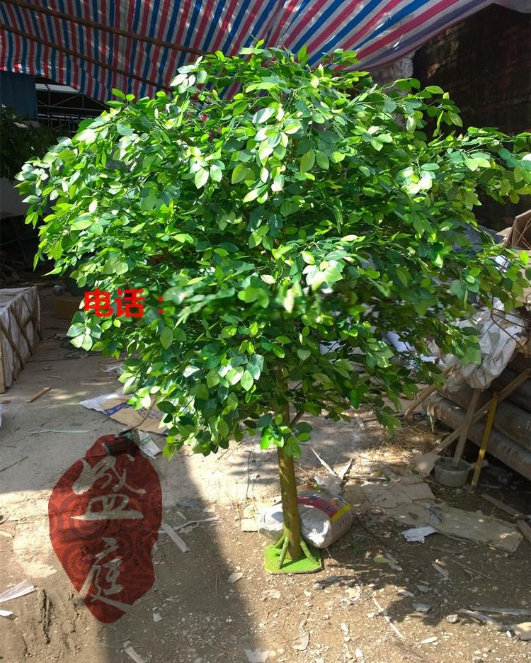 广州厂家盛庭低价定做2m高真树干模拟榕树展会装饰模拟植物假树落地