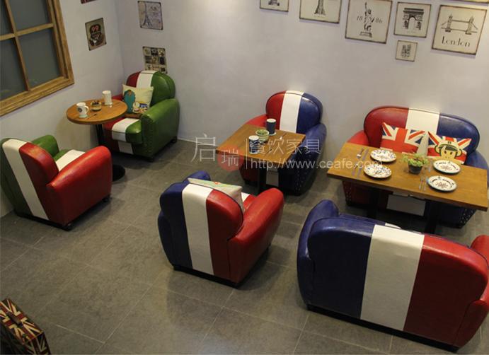 新古典售楼处部洽谈沙发组合咖啡西餐厅双人卡座欧式接待沙发家俱
