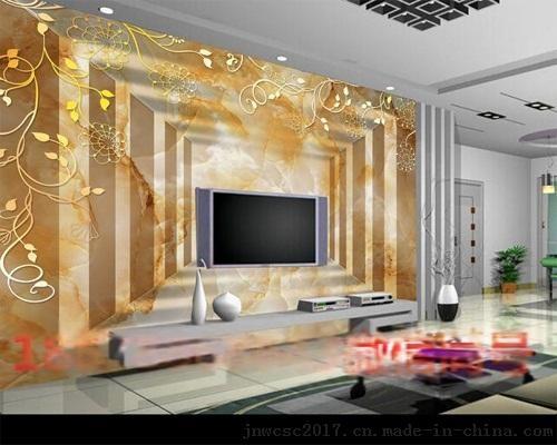 集成墙板印表机列印效果如何  客厅3d集成墙板背景墙装修效果图