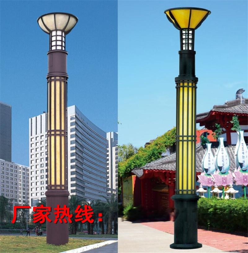 圆柱形景观灯圆形景观灯柱创意小区景观灯广场路灯照明灯具哪家强