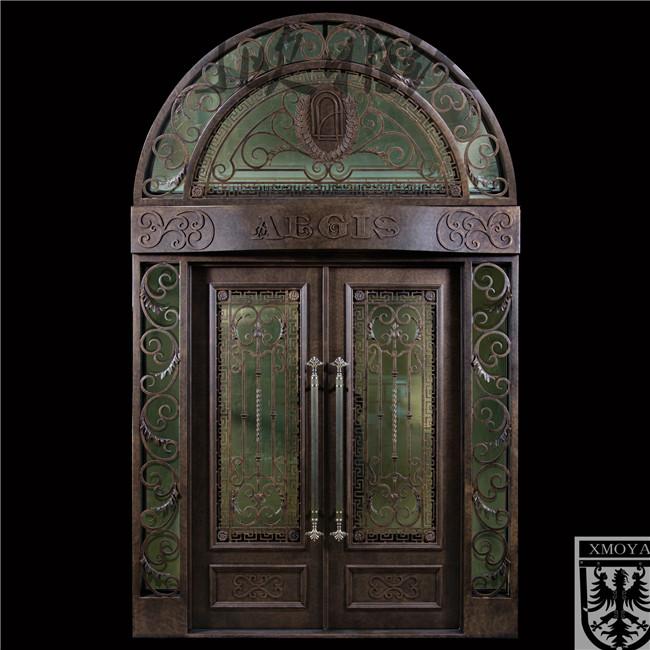 私人定制欧式入户门,高端别墅大门,豪华铁门