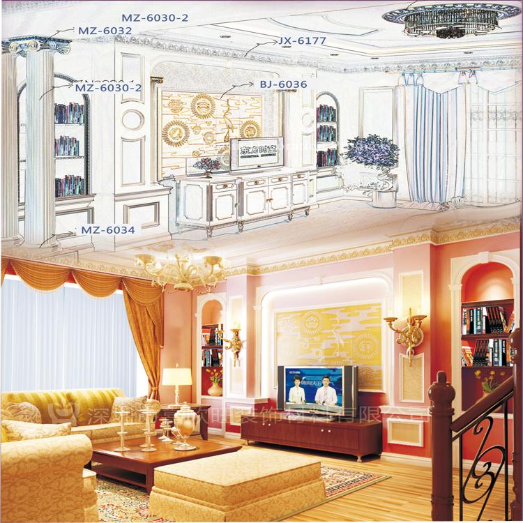 欧式pu装饰建材厂家,专业生产欧式雕花圆形天花灯池