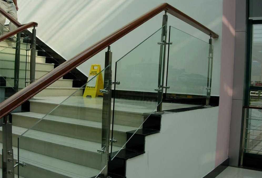 浙江杭州宁波景麒玻璃护栏不锈钢玻璃护栏图片