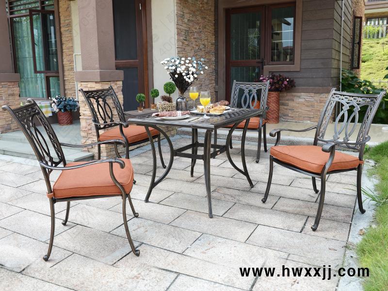 铸铝桌椅 铁艺户外桌椅 欧式餐桌椅 欧美高档户外