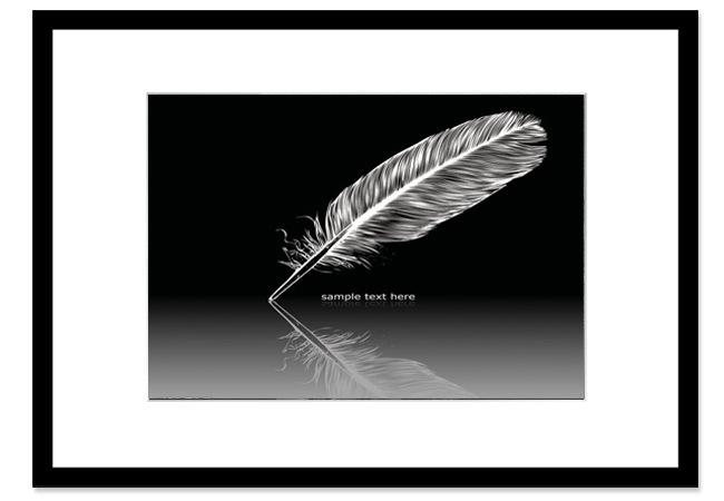 黑白色现代简约 人物写真/艺术照相框 35mm特厚纯实木