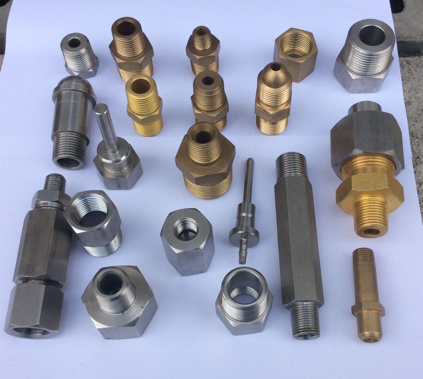 液压接头 水管接头 油管接头 高压接头 不锈钢接头 非标车牀件图片