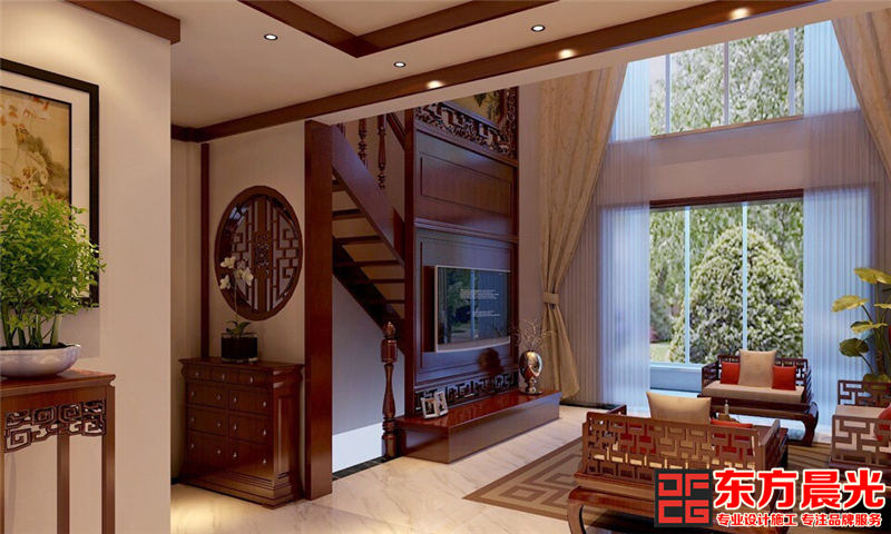 富丽华贵 中式 设计 二层别墅效果图高清图片