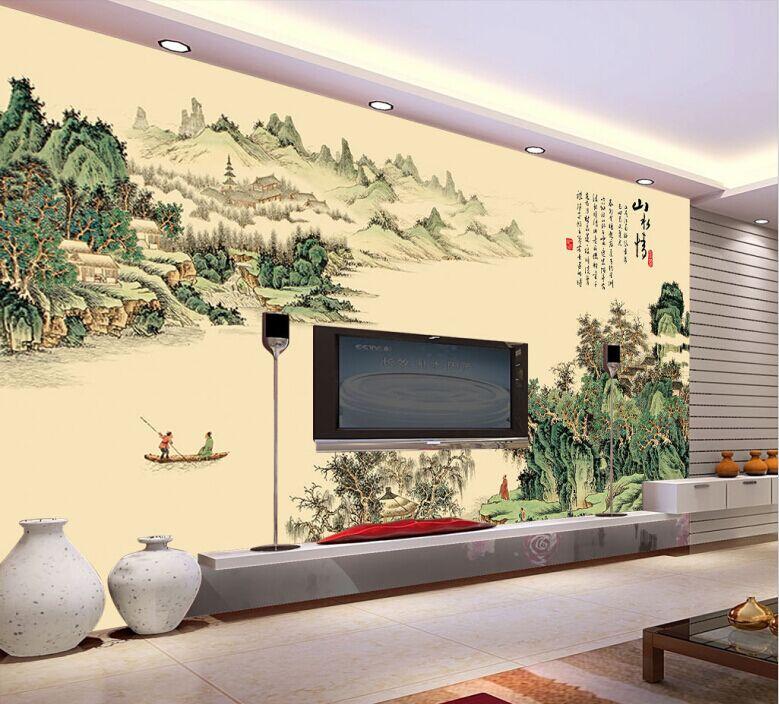 石品牌中式客厅电视背景墙瓷砖