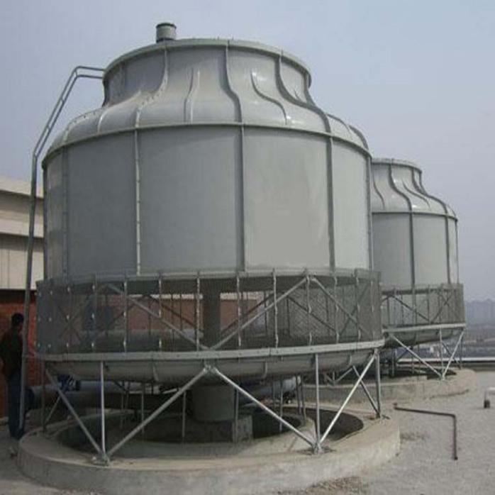 圆形逆流式玻璃钢冷却塔 工业用玻璃钢冷却塔价格