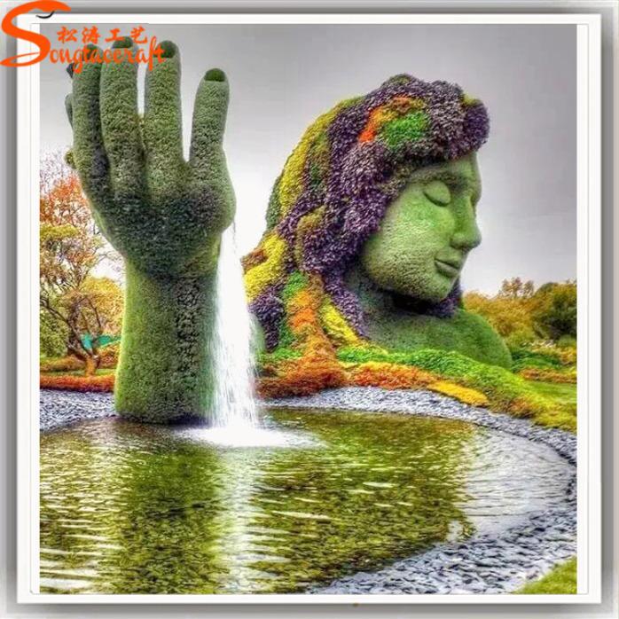 模拟立体动植物雕塑 人造绿色植物雕塑厂家制作