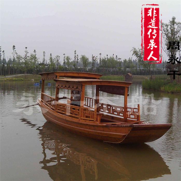 高低篷观光木船 优质景区游船 仿古木船 公园游船