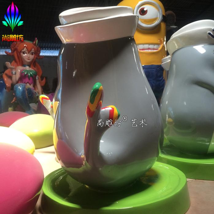 小章军海洋主题教学游乐天地海豹造型卡通玻璃钢动物雕塑