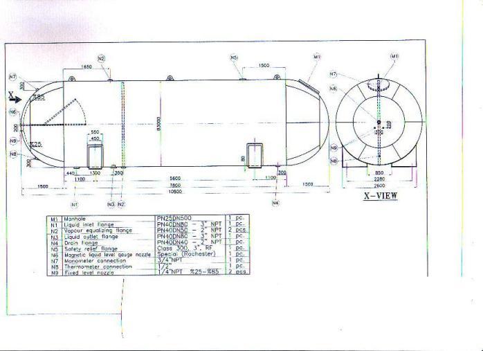 无锡储罐化工50立方液化气纸人碳五储罐各类设计图电气防储罐图片