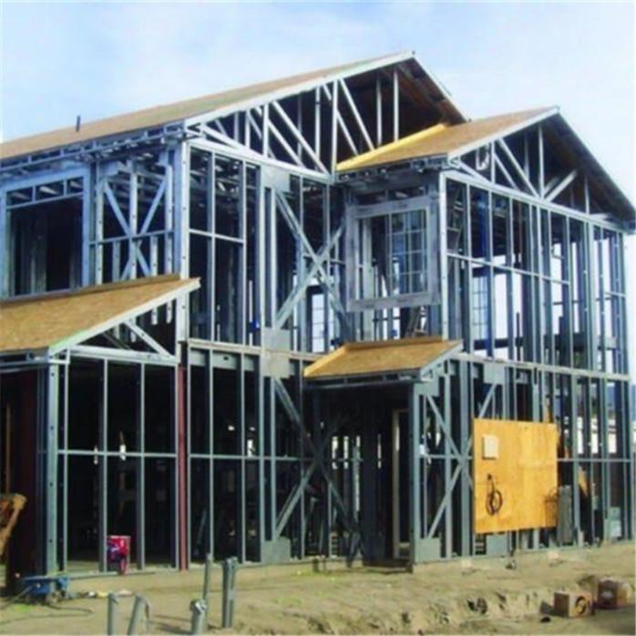 定制轻钢结构别墅 镀锌材质轻钢结构别墅框架牢靠稳固
