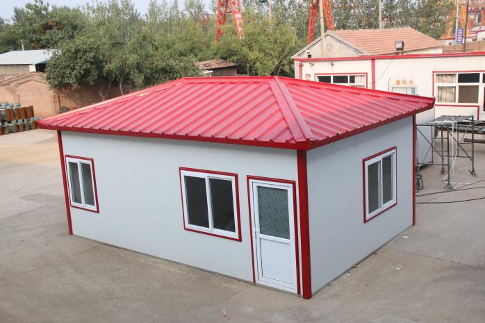 定制办公用彩钢板活动房屋 四坡结构排水效果好活动房