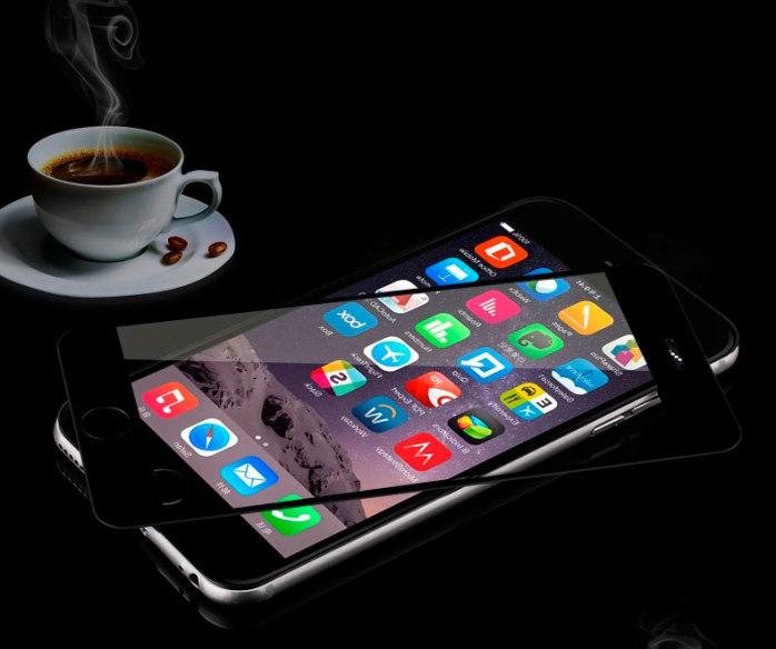 iphone6全屏覆盖手机钢化玻璃膜 苹果手机保护贴膜