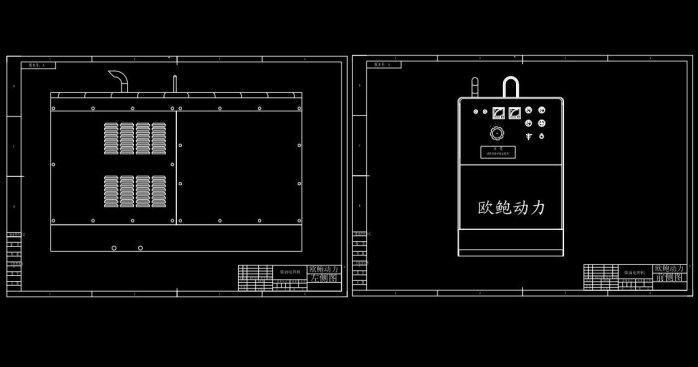 发电电焊两用机结构图