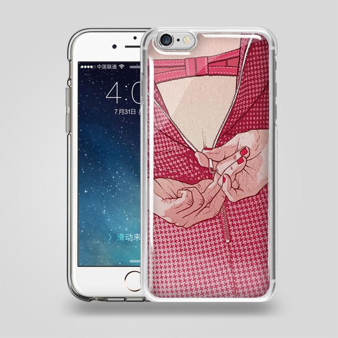 新款闪粉滴胶壳 iphone6手机滴胶壳 6plus手机保护壳