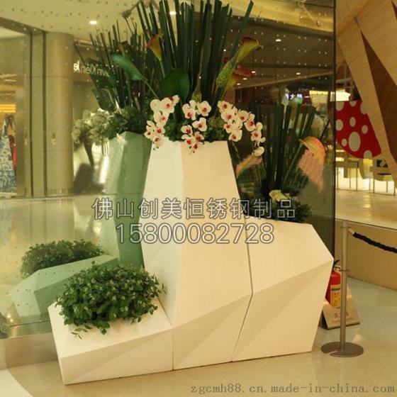 【定做】酒店裝飾花盆 不鏽鋼花瓶  質量穩定 美觀持久