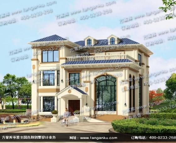 农村房屋三层别墅设计图