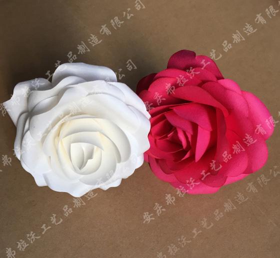 手工纸花玫瑰纸花模拟纸玫瑰婚礼装饰玫瑰花