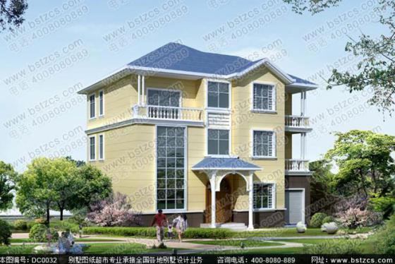150平方米框架结构三层挑高客厅农村自建别墅设计