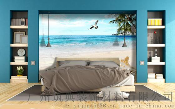 3d立体墙纸卧室沙发客厅电视背景墙无纺布大型壁画