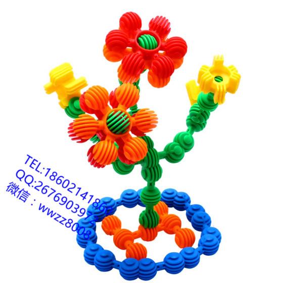 小太阳积木 拼插拼装 塑料积木 儿童益智 幼儿园桌面玩具
