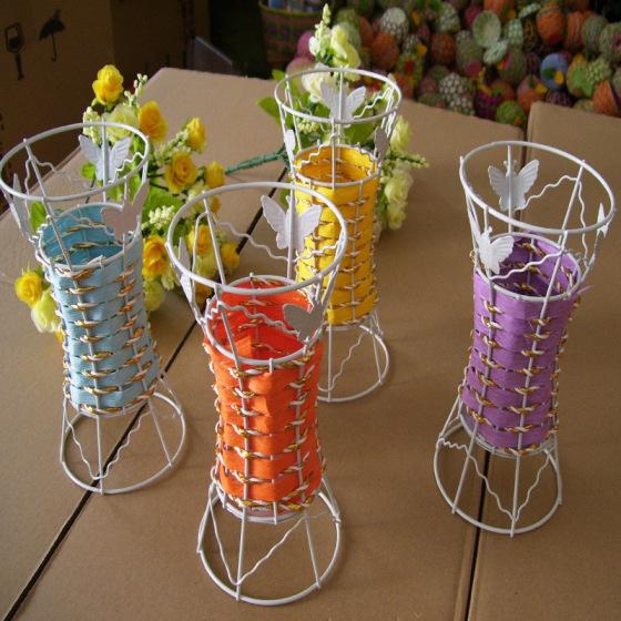 编织工艺品铁丝架 模拟花 模拟动物骨架草编 藤编 芒编 工艺品铁线架