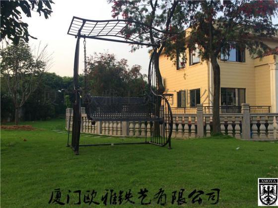 私人定制欧式户外摇篮,高端别墅庭院吊篮