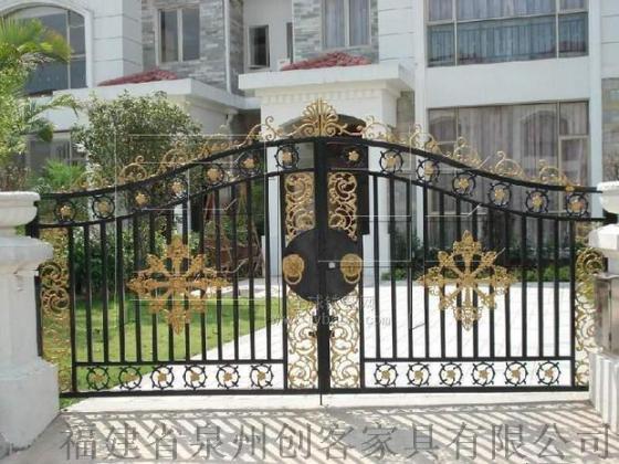 铁艺大门福建创客庭院门大门欧式大门平开门推拉门门