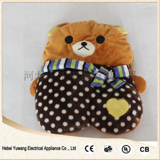 2015暖手宝热水袋晚安新暖宝宝围巾动物可爱卡通形体绒布材质批发