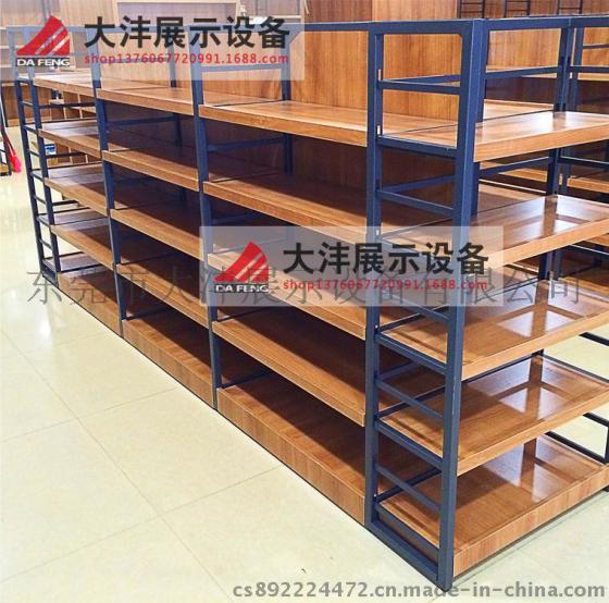 架子 货架 精品超市货架展柜进口食品进口商品铁木