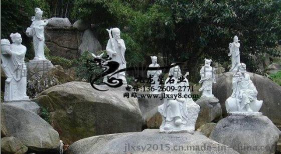 精雕细琢石雕人物 八仙过海雕塑 神话人物批发