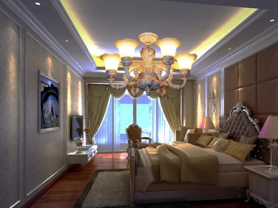 温馨卧室大厅吊灯豪华别墅客厅灯酒店客房灯lighting