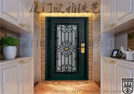 私人定制欧式铁艺门,高端别墅入户门
