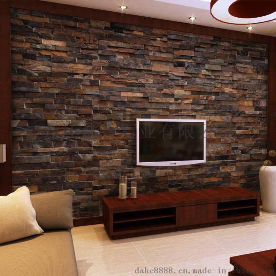 青石文化石|文化石电视背景墙|石材电视墙