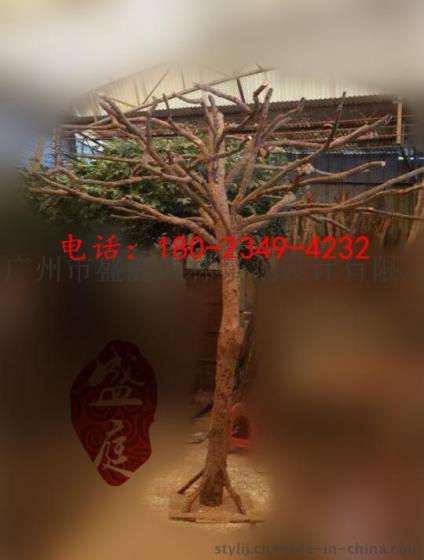 室内装饰树干 服装店橱窗原木色树枝模拟树装饰干树