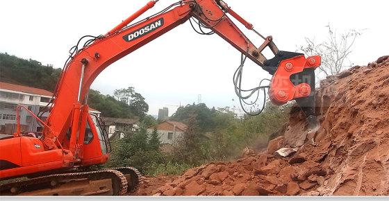 碎锤 液压高频破碎锤开山开矿利器破碎石灰岩高清图片