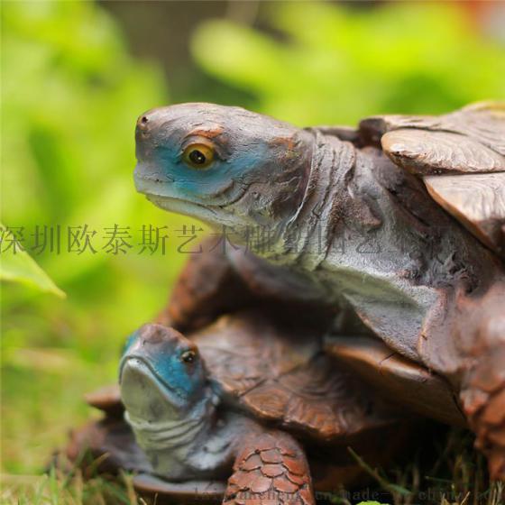 深圳欧泰斯艺术雕塑树脂工艺品园林摆饰动物吉祥海龟乌龟金钱龟