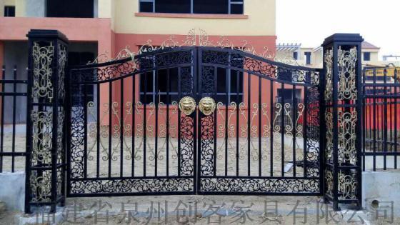 门大门欧式大门平开门推拉门围墙大门别墅门对开门