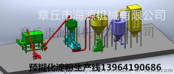 章丘海源2015新款PHJ75預糊化澱粉膨化機